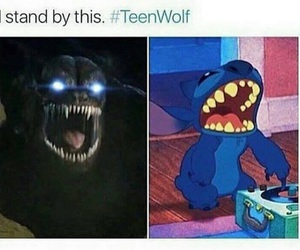 teen wolf and stich image