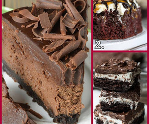 chocolate recipes, oreo cheese cake, and chocolate dessert recipes image