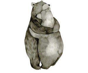 bear, art, and love image