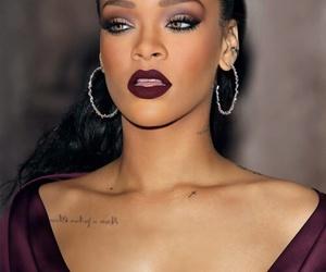 rihanna, riri, and makeup image