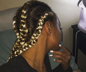 braid, beauty, and hair image