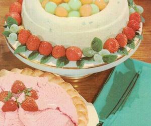 cake, dessert, and retro image