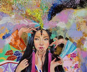 art, colorful, and oriental image