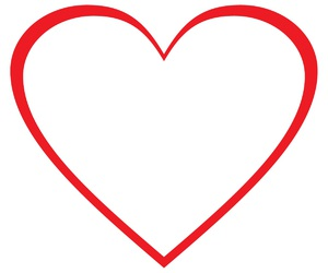 heart, outline, and wallpaper image