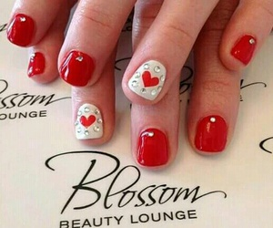 heart, nail, and manicure image
