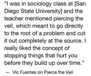 bands, pierce the veil, and vic fuentes image