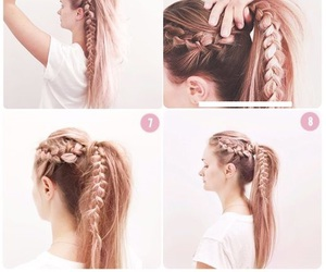 braid, clip, and girl image