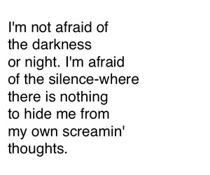 afraid, Darkness, and feelings image