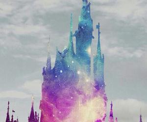 disney, galaxy, and castle image