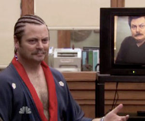 funny, parks and recreation, and ron swanson image