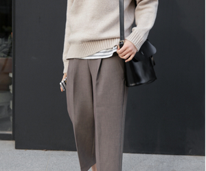 beige, black, and casual image