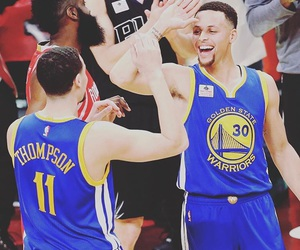 curry, stephen curry, and klay thompson image