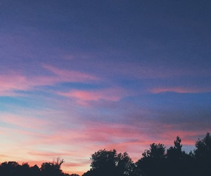 blue, pink, and sunset image