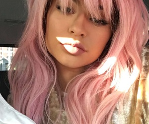 kylie jenner, pink, and hair image