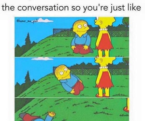 funny, simpsons, and conversation image