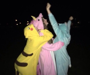 friends, unicorn, and pink image