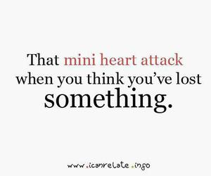 quote, heart attack, and text image