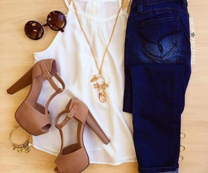 heels, cute, and jeans image