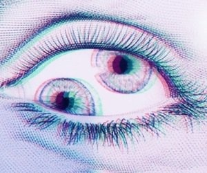 eyes, high, and psychedelic image
