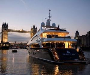 london, luxury, and boat image