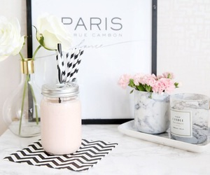 paris, room, and flowers image