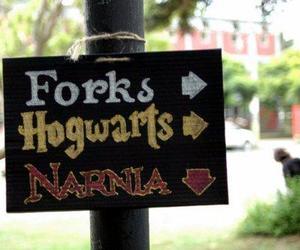 narnia, hogwarts, and forks image