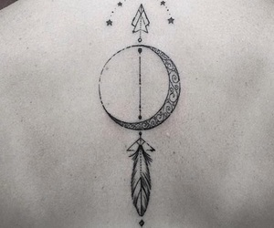 tattoo, arrow, and stars image