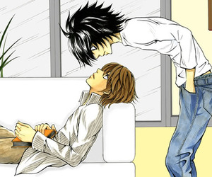 anime, death note, and yaoi image
