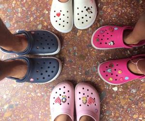 pink, crocs, and Hot image