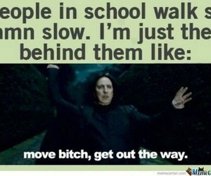school, funny, and harry potter image