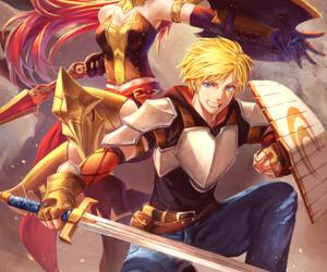 rwby, jaune arc, and pyrrha nikos image