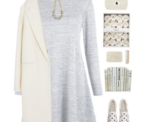 fashion, gray, and heart image