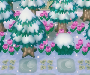 animal crossing, snow, and winter image