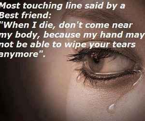 tears, best friends, and sad image