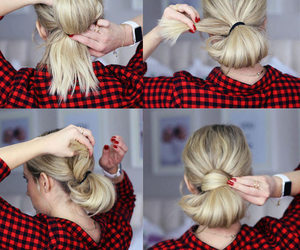 bun, hair, and hairstyle image