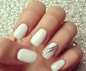 nails, biały, and white image