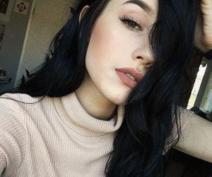 alternative, black hair, and dyed hair image