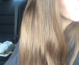 brunette, blonde, and straight hair image