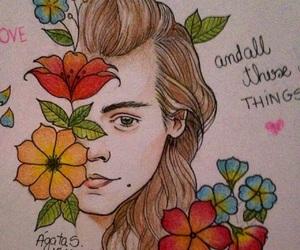 art, fanart, and flowers image