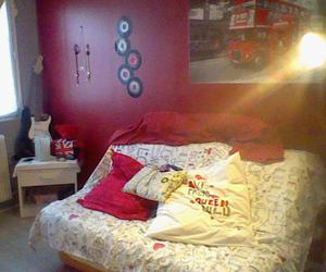 beautiful, bedroom, and red image