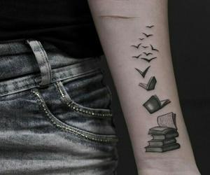 book, tattoo, and tatoo image
