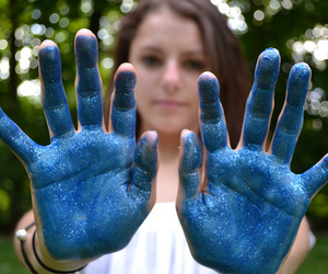 blue, girl, and hands image