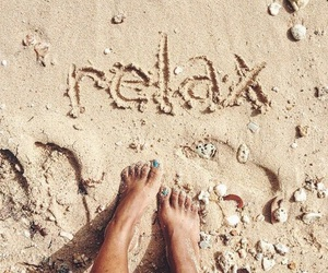 beach, relax, and goals image