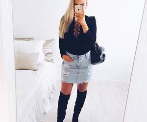 black, blogger, and boots image