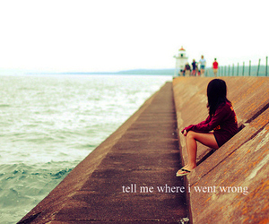 girl, text, and beach image