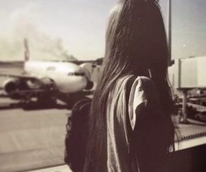 girl, airport, and hair image