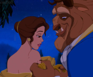 beauty and the beast, belle, and short hair image