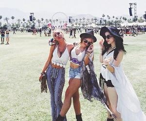 coachella, fashion, and best friends image