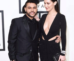 grammys, the weeknd, and bella hadid image