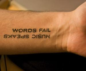 tattoo, music, and words image